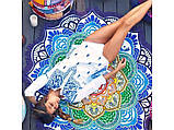 Пляжний Килимок Яскрава Мандала (циновка для пляжу + парео) / Пляжный Коврик Яркая Мандала, 150 см, фото 10