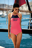 Купальник  для бассейна польский слитный с открытой спинкой, размеры от XS до XL