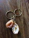 Брелок для ключей с агатовой жеодой, фото 3