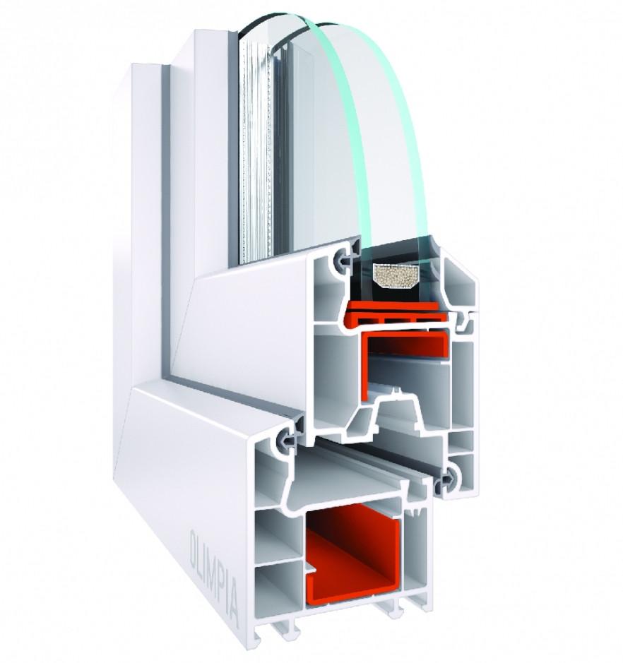 Металлопластиковые окна Olimpia 3-камерная система.