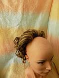 Шиньон-накладка на гребешках удлиненная русая с мелированием 902А-10Н124, фото 5