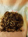 Шиньон-накладка на гребешках удлиненная русая с мелированием 902А-10Н124, фото 6