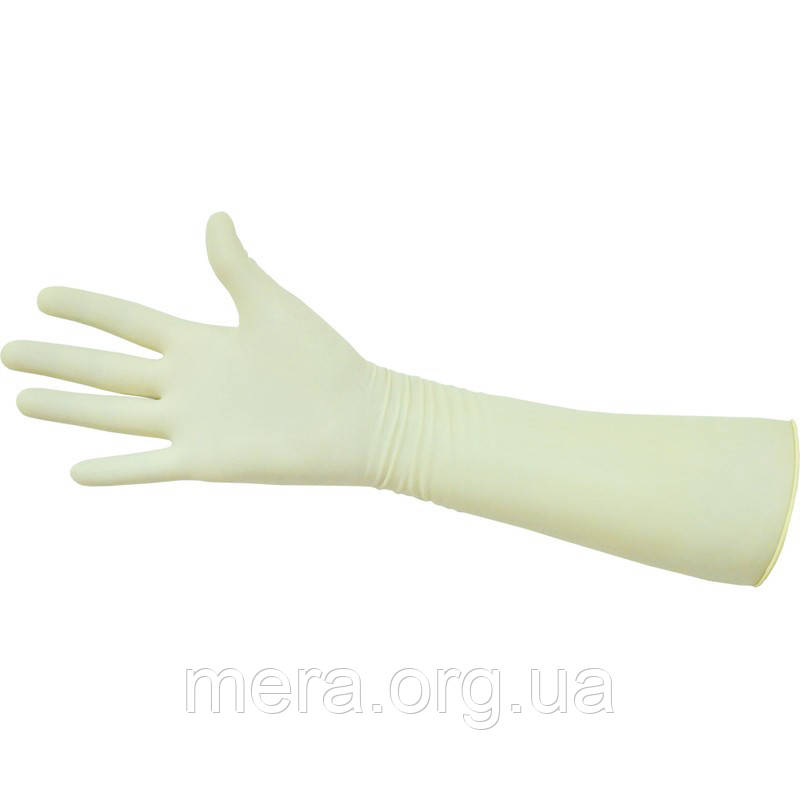 Перчатки гинекологические хирургические латексные стерильные S, M, L