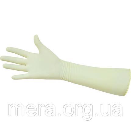 Перчатки гинекологические хирургические латексные стерильные S, M, L, фото 2