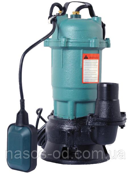 Канализационный насос фекальный Euroaqua WQD 1-1.1 для выгребных ям 1.1кВт Hmax10.5м Qmax250л/мин