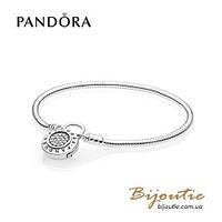 Pandora браслет MOMENTS с замком-подвеской #597092CZ серебро 925 Пандора оригинал