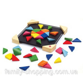 "Деревянная игрушка головоломка на магнитах из бамбука ""Magnetic Mosaic"""
