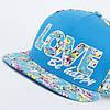 Кепка бейсболка, LOVE, M / 55-56 RU, Хлопок, Голубой, Inal, фото 4