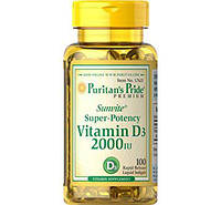 Puritan's Pride Vitamin D3 2000 IU 100 softgels