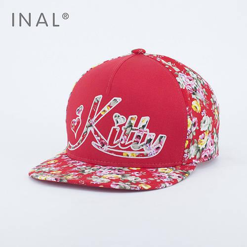 Кепка бейсболка, Kitty, M / 55-56 RU, Хлопок, Красный, Inal