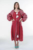 Сукня вишита Gua Зоряна Ніч XS вишнева (1501-XS), фото 1