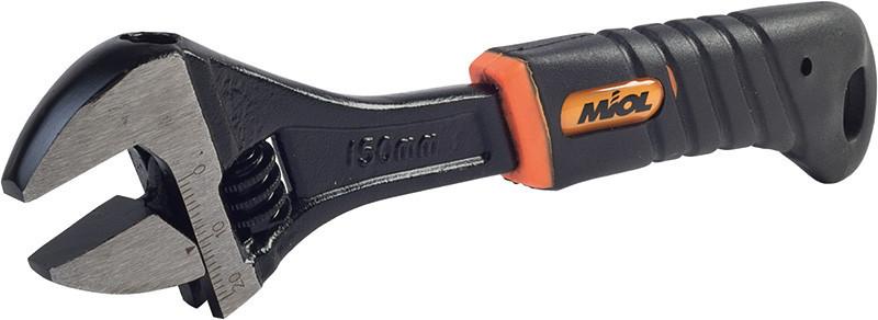 Ключ разводной обрезиненная рукоятка 0-35 мм Miol 54-046