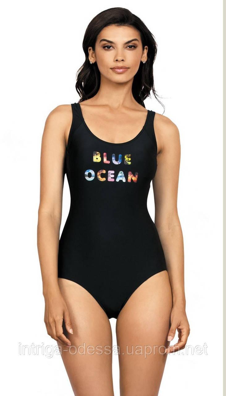 Купальник черный для бассейна Self Blue Ocean