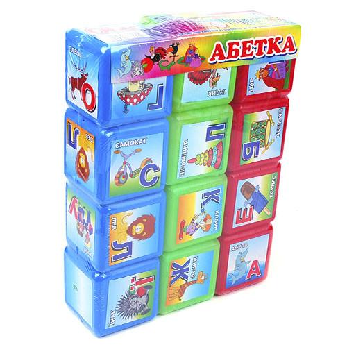 Кубики Азбука 12шт для детей