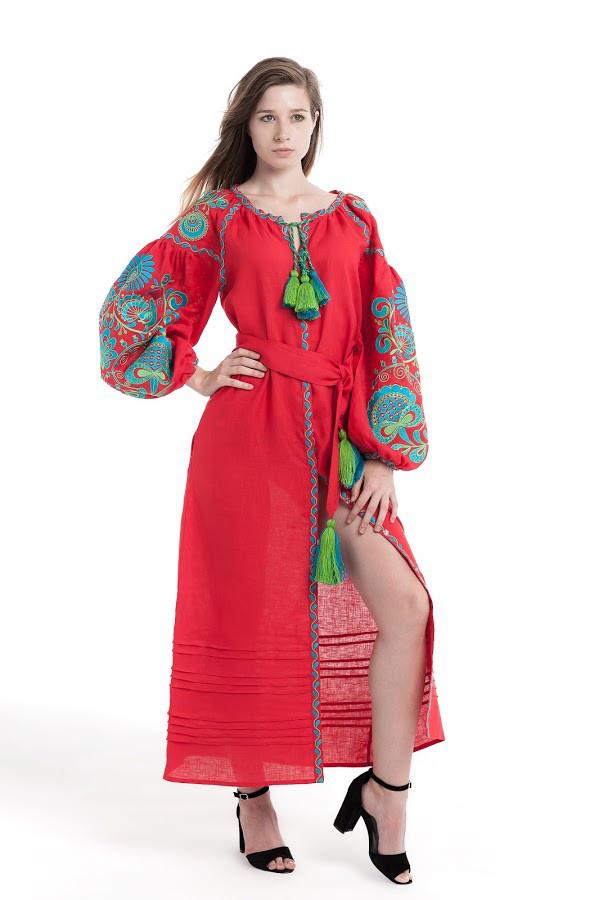 Сукня вишита Gua Дерево Життя XS червона (1852-XS)