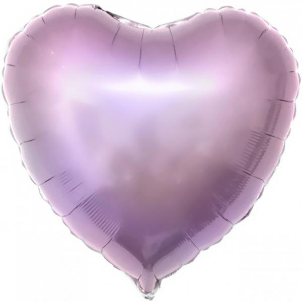 Шар фольгированный сердце 46 см сиреневое с гелием