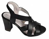 Босоножки женские из натуральной кожи на устойчивом каблуке от производителя модель ДС - Б3, фото 1
