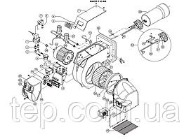 Запчасти для жидкотопливных горелок Ecoflam серии Maior P 45 AB