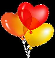 """Воздушные шарики """"сердечки"""" ассорти"""