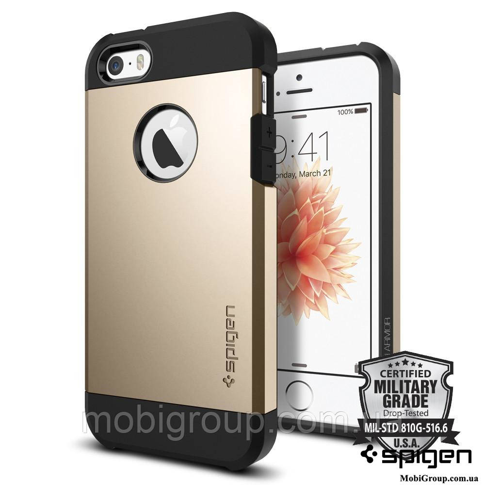 Чехол Spigen для iPhone SE/5S/5 Tough Armor, Champagne Gold