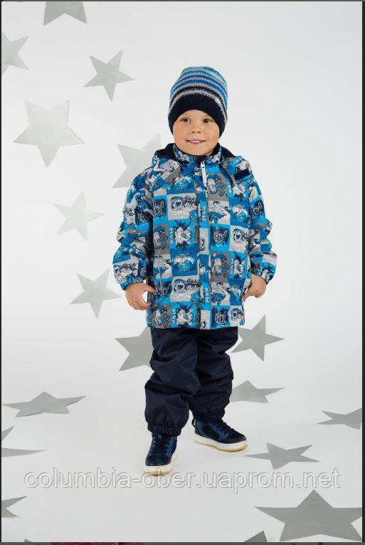 Демисезонный утепленный костюм для мальчика Lenne TOBY 18236-6790. Размеры 104 - 128.