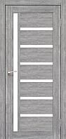 Дверь VALENTINO  VL-01. Со стеклом сатин (эш-вайт,дуб браш,ясень белый). KORFAD (КОРФАД)