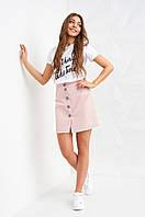 Молодежная женская юбка Медисон пудрового цвета