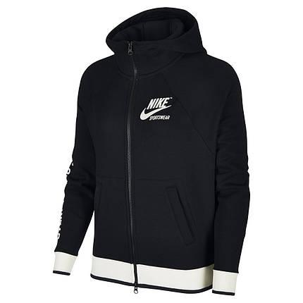 136dd5ca32f3 Толстовка женская Nike Sportswear HOODIE Full Zip FLC ARCHIVE 893638-010