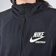 a2361db2 Толстовка женская Nike Sportswear HOODIE Full Zip FLC ARCHIVE 893638-010,  фото 3