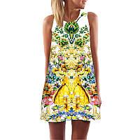 Женское легкое платье в цветы оптом АL7322
