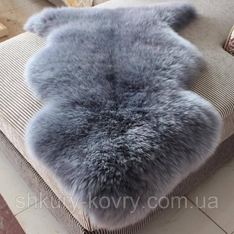 Серо голубая овчина, шкура серо голубого цвета, крашенные овчины