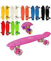 Скейт Пенни Борд (Penny Board) со светящими колесами. 22 дюйма