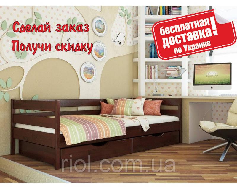 Кровать деревянная Нота детская