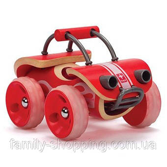 """Деревянная игрушка машинка из бамбука """"E-Offroader"""""""
