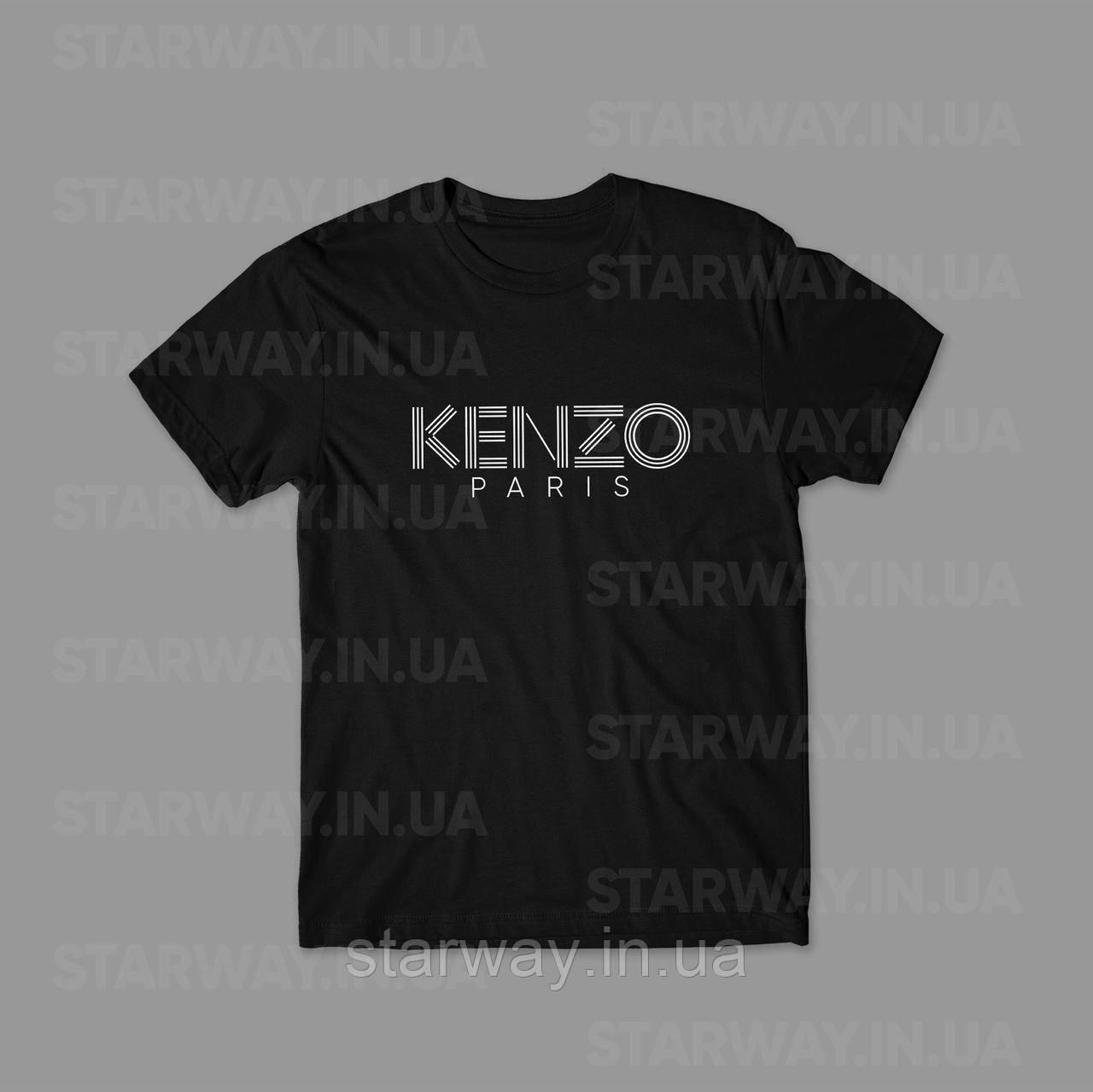 Футболка стильная Kenzo Paris logo