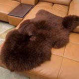 Овчина коричнева шкура шоколадного кольору, темні овечі шкури, фото 2