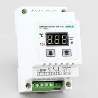 Терморегулятор высокотемпературный цифровой на DIN-рейку (-70°...+500°, реле 10А) РТУ-10/D-Pt
