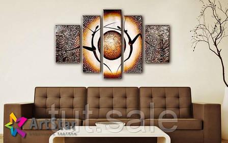 Модульные Картины, рисованные, маслом, Art. MHM17_5_060, фото 2