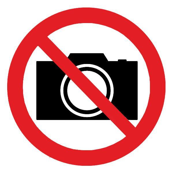Знак Запрещается фотографировать d-150 мм пластик ПВХ