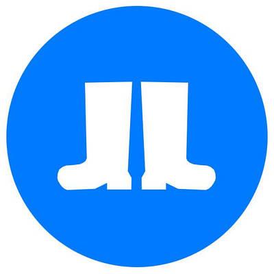 Знак: Работать в защитной обуви! d-150 с-к пленка, Евросервис (000018927)