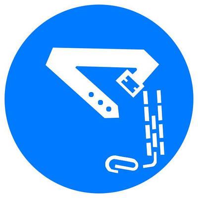 Знак: Работать в предохранительном поясе! d-150 с-к пленка, Евросервис (000018932)