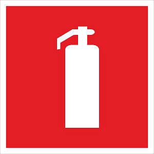 Знак Огнетушитель 150х150 с-к пленка