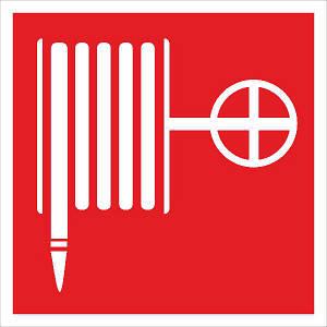 Знак: Пожарный кран-комплект 150х150 с-к пленка, Евросервис (000018954)