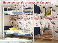 Кровать-трансформер детская металлическая кованная Арлекино двухъярусная