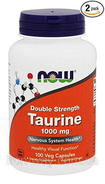 NOW Taurine Double Strength 1000 mg 100 caps