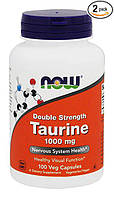 NOW Taurine Double Strength 1000 mg 100 veg caps