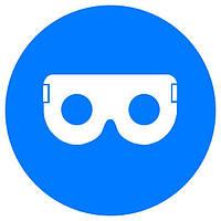 Знак Работать в защитных очках! d-150 пластик ПВХ, Евросервис (000019116)