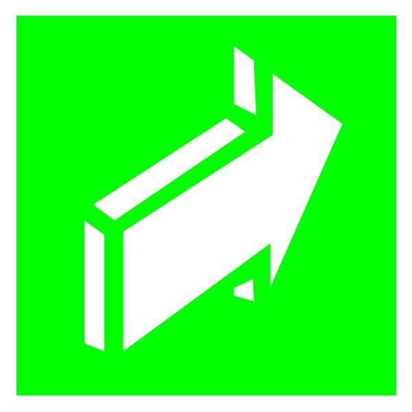 Знак Открывать движением от себя 150х150 пластик ПВХ