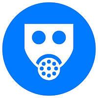 Работать с применением средств защиты органов дыхания d-250 пластик ПВХ, Евросервис (000019199)