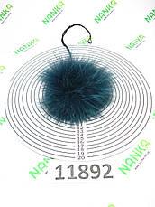 Меховой помпон Песец, Изумруд, 11 см, 11892 (для мех розетки), фото 2